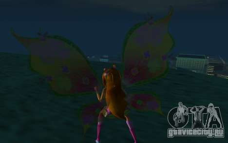Flora Believix from Winx Club Rockstars для GTA San Andreas третий скриншот