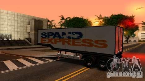 Box Trailer V2 для GTA San Andreas вид слева