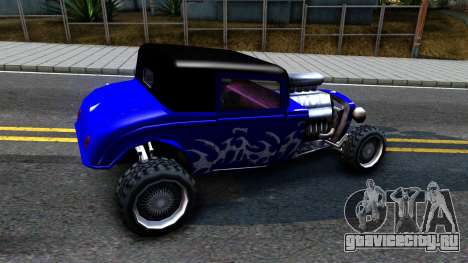Duke Blue Hotknife Race Car для GTA San Andreas вид сзади слева