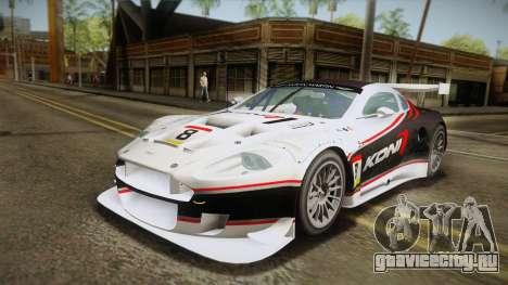 Aston Martin Racing DBR9 2005 v2.0.1 YCH Dirt для GTA San Andreas двигатель