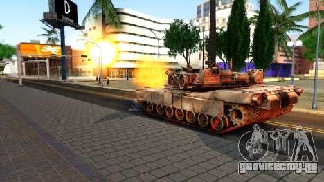 M1A1 Abrams COD4MW Remastered для GTA San Andreas вид справа
