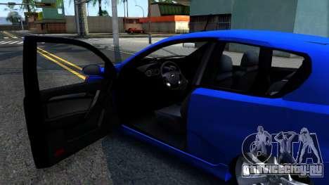 Chevrolet Aveo 2012 для GTA San Andreas вид изнутри