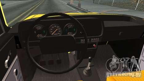 АЗЛК 412 для GTA San Andreas вид изнутри