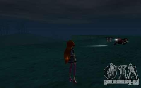 Bloom Rock Outfit from Winx Club Rockstar для GTA San Andreas четвёртый скриншот