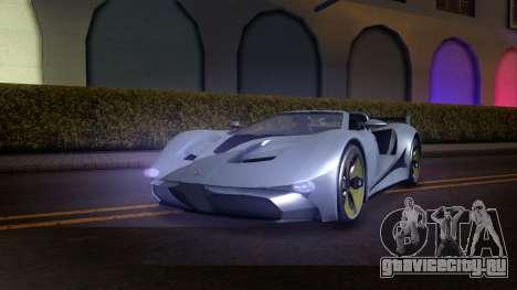 GTA V Vapid FMJ Roadster для GTA San Andreas вид сзади