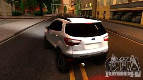 Ford EcoSport 2016 для GTA San Andreas вид сзади слева