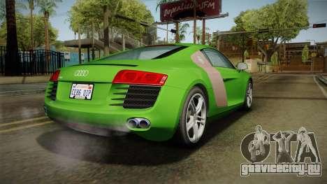 Audi R8 Coupe 4.2 FSI quattro EU-Spec 2008 для GTA San Andreas вид слева