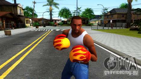 Red With Flames Boxing Gloves Team Fortress 2 для GTA San Andreas третий скриншот