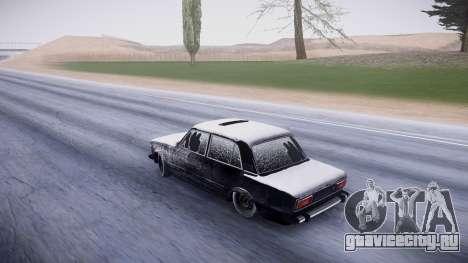 ВАЗ 2106 зимняя версия для GTA San Andreas вид сзади слева