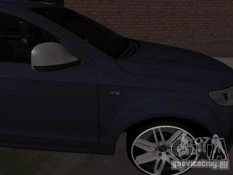 Audi Q7 Armenian для GTA San Andreas вид справа