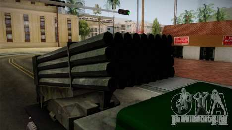 TAM 110 Serbian Military Vehicle для GTA San Andreas вид сзади