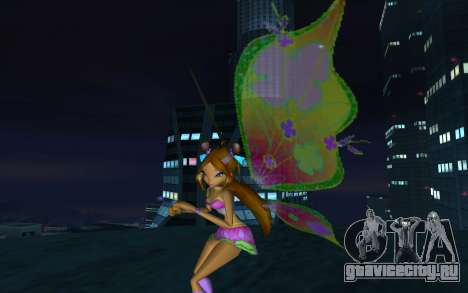 Flora Believix from Winx Club Rockstars для GTA San Andreas второй скриншот