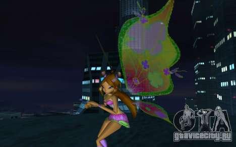Flora Believix from Winx Club Rockstars для GTA San Andreas второй скриншот