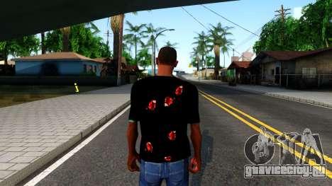 Black I am Fine T-Shirt для GTA San Andreas третий скриншот