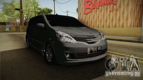 Nissan Grand Livina Highway Star для GTA San Andreas вид справа