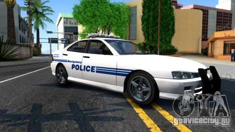 1998 Dinka Chavos Montgomery Police Department для GTA San Andreas вид слева