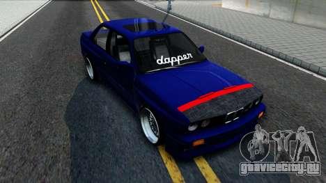 BMW E30 для GTA San Andreas вид сзади