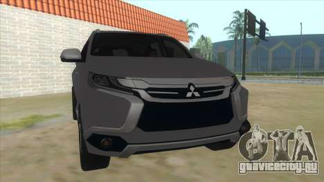 2016 Mitsubishi Montero Sport для GTA San Andreas вид сзади