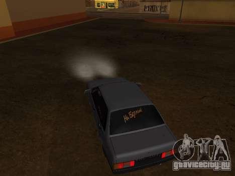 VAZ 21099 BPAN для GTA San Andreas вид изнутри