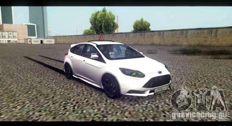 Ford Focus ST 2013 Учебный для GTA San Andreas вид справа