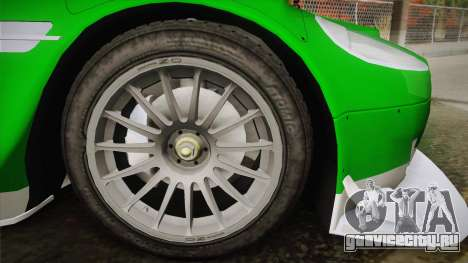 Aston Martin Racing DBR9 2005 v2.0.1 YCH Dirt для GTA San Andreas вид сзади слева