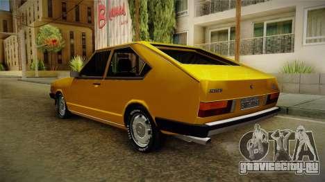 Volkswagen Passat 1981 для GTA San Andreas вид справа