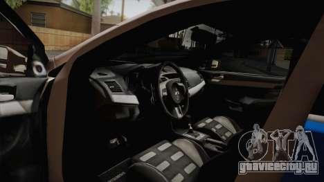Mitsubishi Lancer Evo X Rendőrség для GTA San Andreas вид справа