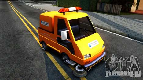 Brute Sweeper SA DOT 1992 для GTA San Andreas вид сзади