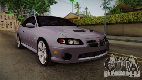 Pontiac GTO Hot Wheels NASCAR PJ для GTA San Andreas