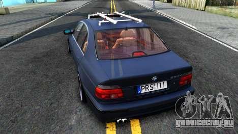 BMW e39 530d для GTA San Andreas вид сзади слева