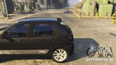Fiat Palio Way Brasil 2015 для GTA 5 вид сзади справа