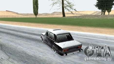ВАЗ 2106 зимняя версия для GTA San Andreas вид справа