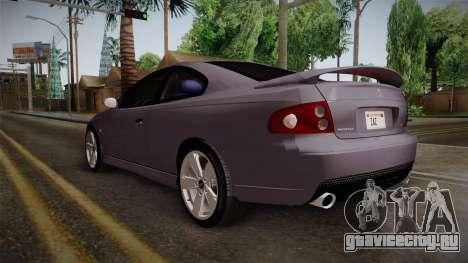 Pontiac GTO Hot Wheels NASCAR PJ для GTA San Andreas вид сзади слева