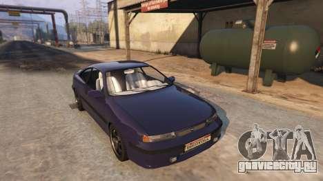 Opel Calibra GT v2 для GTA 5 вид сзади