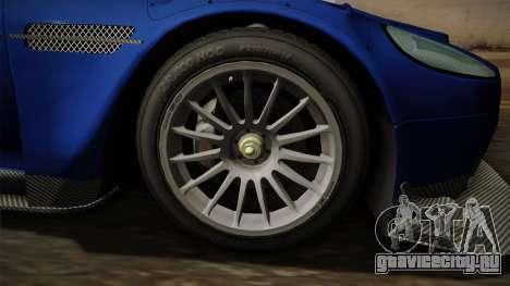 Aston Martin Racing DBR9 2005 v2.0.1 Dirt для GTA San Andreas вид сзади