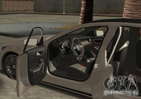 Mercedes-Benz C63 AMG W205 для GTA San Andreas вид слева