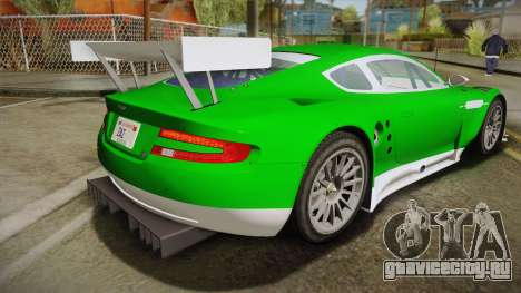 Aston Martin Racing DBR9 2005 v2.0.1 YCH Dirt для GTA San Andreas вид слева