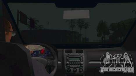 Volkswagen Golf MK для GTA San Andreas вид изнутри