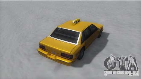 Taxi Winter IVF для GTA San Andreas вид сзади слева