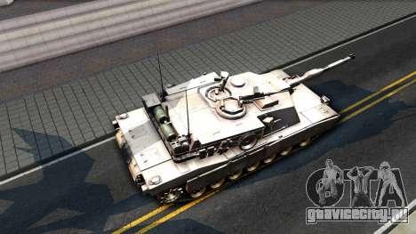 M1A1 Abrams COD4MW Remastered для GTA San Andreas вид сзади слева