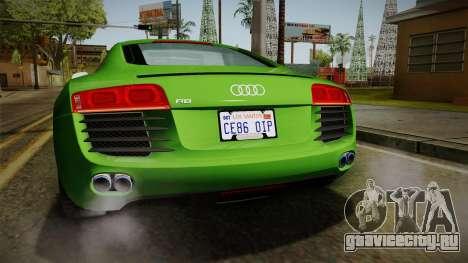 Audi R8 Coupe 4.2 FSI quattro EU-Spec 2008 для GTA San Andreas салон