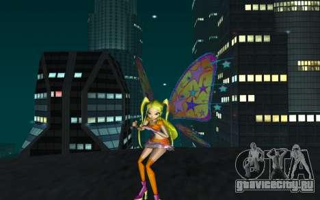 Stella Believix from Winx Club Rockstars для GTA San Andreas второй скриншот