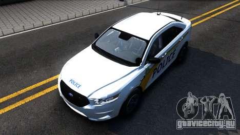 Ford Taurus Slicktop Metro Police 2013 для GTA San Andreas вид справа