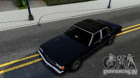 Chevrolet Caprice Brougham 1986 для GTA San Andreas вид сзади