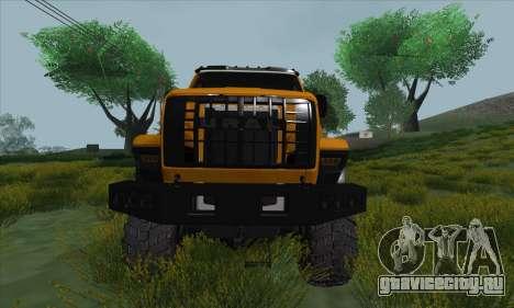 Ural Next Бензовоз для GTA San Andreas вид изнутри
