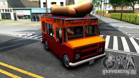 New HotDog Van для GTA San Andreas вид слева
