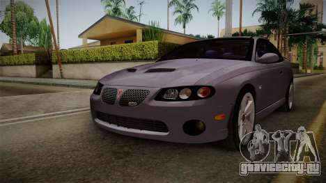 Pontiac GTO Hot Wheels NASCAR PJ для GTA San Andreas вид справа