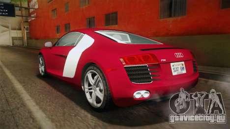 Audi R8 Coupe 4.2 FSI quattro US-Spec v1.0.0 YCH для GTA San Andreas вид слева