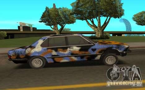 BMW E28 для GTA San Andreas вид сзади слева
