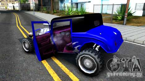 Duke Blue Hotknife Race Car для GTA San Andreas вид изнутри